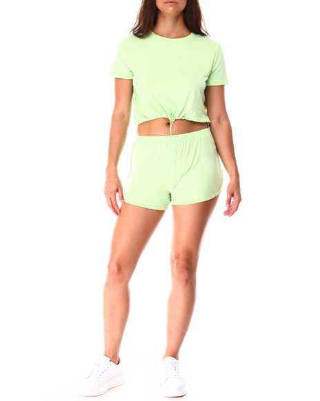 Fashion Lab - S/S Top W/ Toggle and Dolphin Short