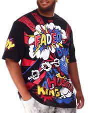 Shirts - Faded Wow Comic Pop Art T-Shirt (B&T)-2639926
