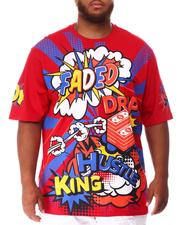 Shirts - Faded Wow Comic Pop Art T-Shirt (B&T)-2639942