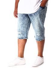 Shorts - Distressed Fashion Denim Shorts (B&T)-2640928