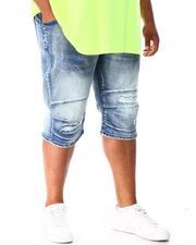 Shorts - Moto Distressed Denim Shorts (B&T)-2640954