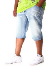 Shorts - Moto Distressed Denim Shorts (B&T)-2640975