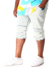 Shorts - Moto Distressed Denim Shorts (B&T)-2640989