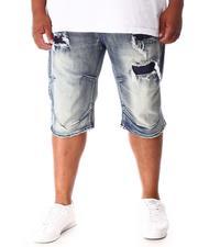 Shorts - Rip & Repair Distressed Denim Shorts (B&T)-2640994