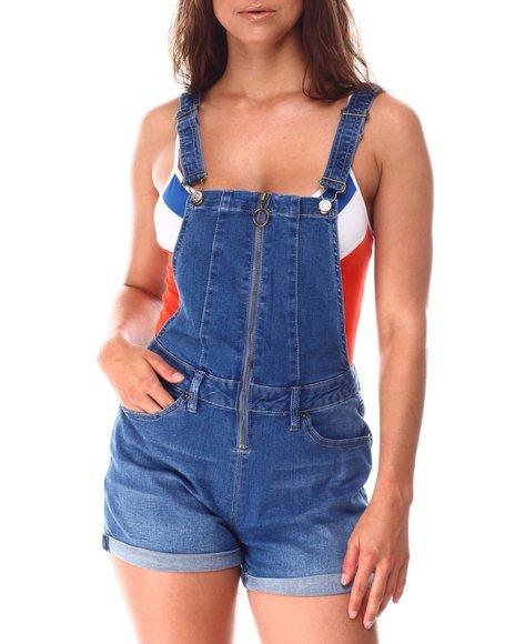 YMI Jeans - Zip Front Shortall