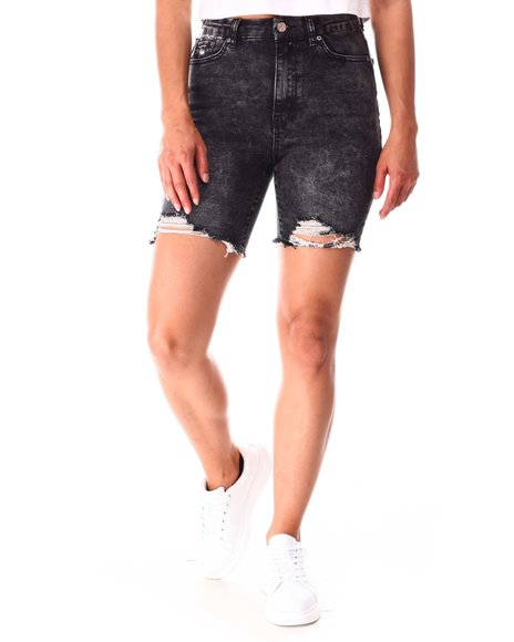 Almost Famous - Bermuda  Raw Edge Shorts