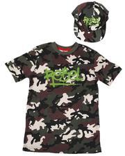 Arcade Styles - 2 Pc Rebel Camo T-Shirt & Snapback Hat Set (8-18)-2638652