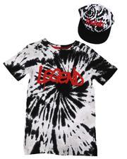 Arcade Styles - 2 Pc Legend Tie Dye Print T-Shirt & Snapback Hat Set (8-18)-2638662