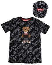 Arcade Styles - 2 Pc Savage Bear Tee & Snapback Hat Set (8-18)-2638689