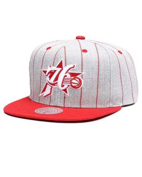 Mitchell & Ness - Philadelphia 76ers Grey Pin Pop Snapback Hat