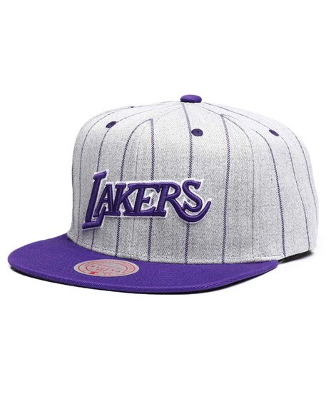 Mitchell & Ness - Los Angeles Lakers Grey Pin Pop Snapback Hat