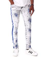 Jeans - Rip and Repair Jeans Print and Side Tape-2642623
