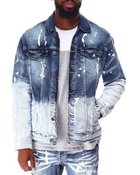 Copper Rivet - Bleach effect Denim Paint Jacket