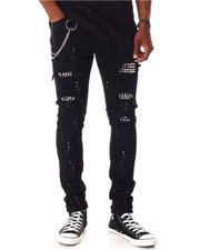 Jeans - Punk Rock Skinny Jean w Chain and Stud Detail-2642667