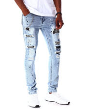 Jeans - Punk Rock Skinny Jean w Chain and Stud Detail-2642674