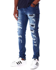 Jeans - Med Blue Rip and Repair Jean-2643331