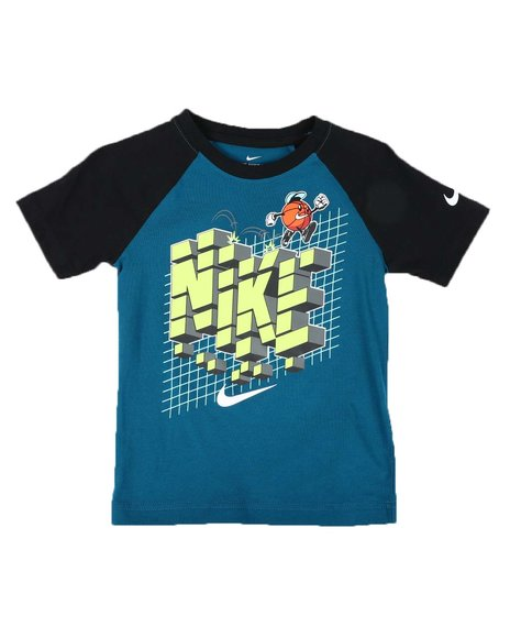 Nike - 8 Bit Basketball Raglan Tee (4-7)