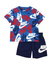 Sizes 2T-4T - Toddler - 2 Pc Toss AOP Tee & Shorts Set (2T-4T)-2640724