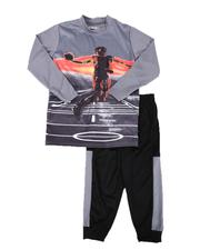Arcade Styles - 2 Pc Sublimation Graphic Long Sleeve Tee & Jogger Pants Set (4-7)-2641093