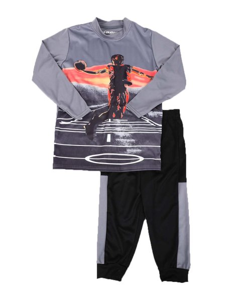Arcade Styles - 2 Pc Sublimation Graphic Long Sleeve Tee & Jogger Pants Set (4-7)