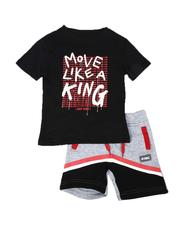 Sizes 2T-4T - Toddler - 2 Pc Move Like A King Tee & Fleece Shorts Set (2T-4T)-2640882