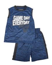 Arcade Styles - 2 Pc Game Day Marled Muscle Tee & Shorts Set (8-20)-2641076