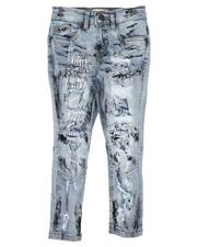 Arcade Styles - Rip & Repair Embroidered Paint Splatter Jeans (4-7)-2641159