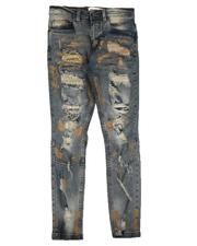 Arcade Styles - Rip & Repair Embroidered Paint Splatter Jeans (8-20)-2641177