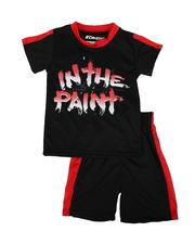 Arcade Styles - 2 Pc In the Paint Two Tone Tee & Shorts Set (8-20)-2641119
