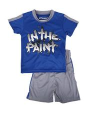 Arcade Styles - 2 Pc In the Paint Two Tone Tee & Shorts Set (8-20)-2641123