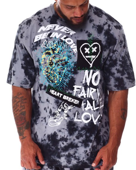 Rebel Minds - Never Tie Dye Graphic T-Shirt (B&T)