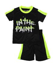 Arcade Styles - 2 Pc In the Paint Two Tone Tee & Shorts Set (4-7)-2643097