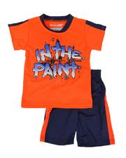 Arcade Styles - 2 Pc In the Paint Two Tone Tee & Shorts Set (8-20)-2643116