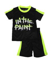 Arcade Styles - 2 Pc In the Paint Two Tone Tee & Shorts Set (8-20)-2643120
