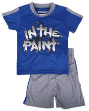 Arcade Styles - 2 Pc In the Paint Two Tone Tee & Shorts Set (4-7)-2643078