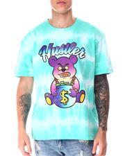 T-Shirts - Tie Dye Hustler Bear Tee-2644218