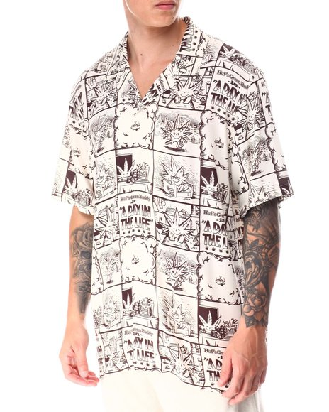 HUF - DAY IN THE LIFE S/S WOVEN TOP