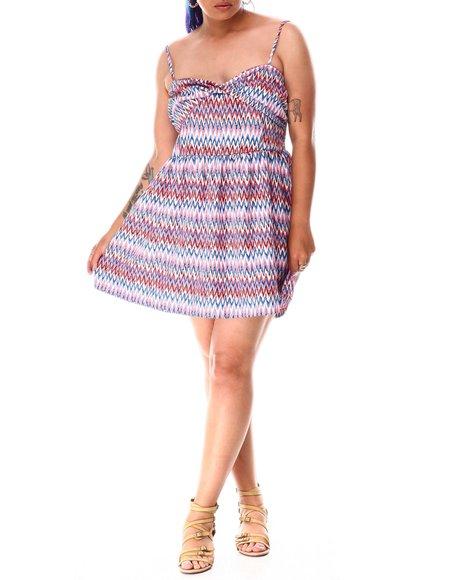 Fashion Lab - Floral Print Mini Dress (Plus)