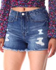 Shorts - 1 Btn Shorts Fray Hem-2639611