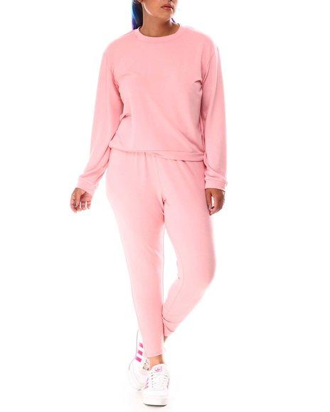 Fashion Lab - Crop Pullover W/Legging (Plus)