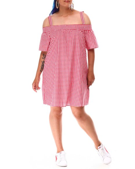 Fashion Lab - Off Shoulder Mini Dress (Plus)