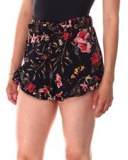 Fashion Lab - Ruffle Hem Straight Leg Shorts-2641801