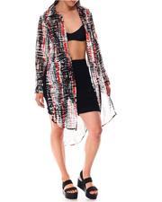 Fashion Lab - Printed Roll Cuff Duster-2644854
