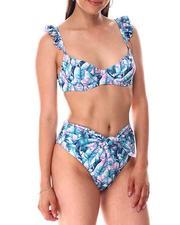 Swimwear - Ruffle Padded Bra Top/ Sash Brief Bottom-2644979