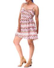 Dresses - Allover Design pattern Print Mini Dress (Plus)-2634625