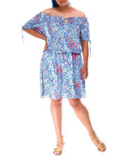 Fashion Lab - Floral Off Shoulder Dress (Plus)-2634633