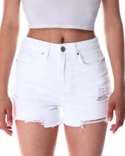 Shorts - 1 Btn Shorts Fray Hem-2639577