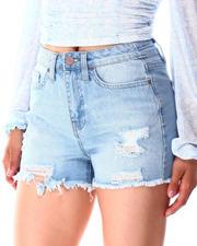 Shorts - 1 Btn Shorts Fray Hem-2639593