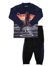 Sets - 2 Pc Sublimation Graphic Long Sleeve Tee & Jogger Pants Set (4-7)-2641088