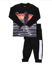 Sets - 2 Pc Sublimation Graphic Long Sleeve Tee & Jogger Pants Set (4-7)-2641114